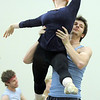 "Julia Meng is lifted  by Corbin Kalinowski during rehearsal of Ballet Nouveau Colorado's Love in the Digital Age on Saturday.<br /> For more photos please see  <a href=""http://www.broomfieldenterprise.com"">http://www.broomfieldenterprise.com</a><br /> January 21, 2012<br /> staff photo/ David R. Jennings"
