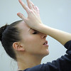 "Dancer Meredith Strathmeyer gestures during rehearsal of Ballet Nouveau Colorado's Love in the Digital Age on Saturday.<br /> For more photos please see  <a href=""http://www.broomfieldenterprise.com"">http://www.broomfieldenterprise.com</a><br /> January 21, 2012<br /> staff photo/ David R. Jennings"