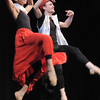 Dancers Marian Faustino and Ben Delony demonstrate a Basque dance during Ballet Nouveau Colorado's young person's guide to dance at the Auditorium on Satuday.<br /> March 24, 2012 <br /> staff photo/ David R. Jennings