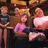 Ellie Stillman, 3, center, and her father David with Colton Fairbairns, 5, left, and his sister, Jacqueline, watch company dancers perfom during Ballet Nouveau Colorado's young person's guide to dance at the Auditorium on Satuday.<br /> March 24, 2012 <br /> staff photo/ David R. Jennings
