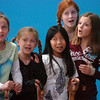 Actors Brooklynn Kirkpatrick, 9, left, Grace Nordgren, 10, Janelle Campbell, 10, Kendall Ritger, 11, and  Katie Blair, 12, playing the elderly women sing a number during a rehearsal of the BackStory Theatre's Youth Theatre production of Bird Brains at the Broomfield Community Center on Saturday.<br /> October 29, 2011<br /> staff photo/ David R. Jennings