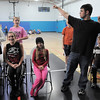 David Bass, 17, right, shows he's strong during a musical number at rehearsal of the BackStory Theatre's Youth Theatre production of Bird Brains at the Broomfield Community Center on Saturday.<br /> October 29, 2011<br /> staff photo/ David R. Jennings