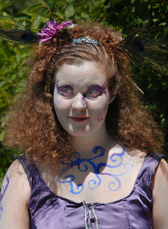 Tristine Henderson, 15, plays Titania the queen of the fairies, in the Summer Youth Players production of A Midsummer Night's Dream at the Audi.<br /> August 1, 2009<br /> staff photo/David Jennings