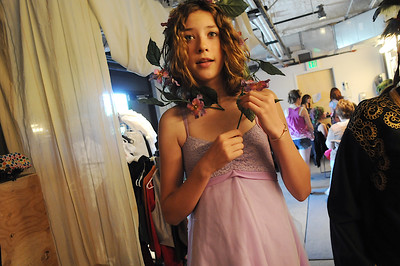 Meg Tocci, 13, waits for her makeup session as the Summer Youth Players prepare backstage for Saturday's matinee performance of A Midsummer Night's Dream at the Audi. August 1, 2009 staff photo/David Jennings