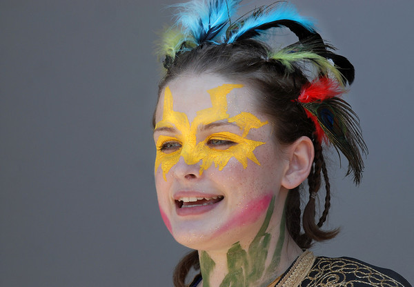 Maria Masterson, 18, playing Oberon and is also the producer of  the Summer Youth Players production of A Midsummer Night's Dream at the Audi.<br /> August 1, 2009<br /> staff photo/David Jennings