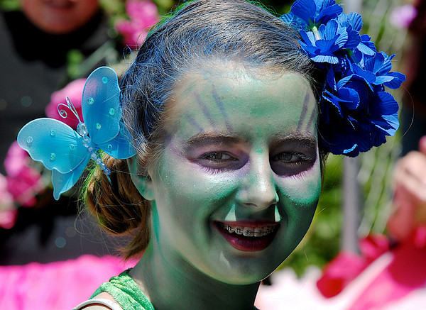 Bridget Admire, 14, plays one of Titania's fairies, in the Summer Youth Players production of A Midsummer Night's Dream at the Audi.<br /> August 1, 2009<br /> staff photo/David Jennings