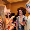 Carrie Seabury, left, Erica Derby, Dave Derby and Ryan Seabury chat  while attending the Bal Swan Ball, Saturday Night Fever, fundraiser at the Omni Interlocken Resort Hotel on Saturday.<br /> March 3, 2012 <br /> staff photo/ David R. Jennings