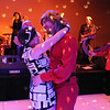 Bal Swan teacher Kiley Edwards, left, dances with her husband Brent  to the music performed by the Naco Men at the Bal Swan Ball, Saturday Night Fever, fundraiser at the Omni Interlocken Resort Hotel on Saturday.<br /> March 3, 2012 <br /> staff photo/ David R. Jennings