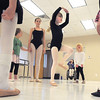 "Lilian Prichard, 5, center, performs a dance for students during Ballet Nouveau Colorado's Ballet Expressions classes for the physically and mentally challenged students on Thursday at the BNC studios.<br /> For more photos please see  <a href=""http://www.broomfieldenterprise.com"">http://www.broomfieldenterprise.com</a>.<br /> January 12, 2012<br /> staff photo/ David R. Jennings"