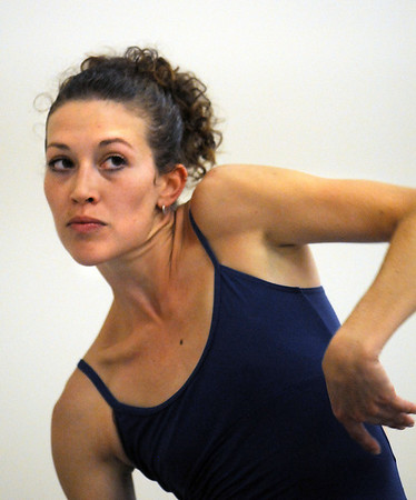 Megan Coatney rehearses a dance choreographed by Alex Ketley for POP by Ballet Nouveau Colorado at the studio earlier this month.<br /> Sept. 5, 2009<br /> Staff photo/David R. Jennings