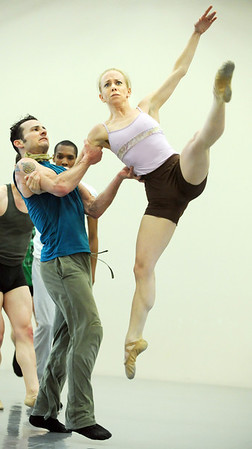 """Brandon Freeman and Sarah Tallman perform the dance """"An Occasional Dream"""" set to the music of David Bowie during rehearsal for Ballet Nouveau Colorado's Rock Ballets at the BNC studio on Thursday.<br /> March 29, 2012 <br /> staff photo/ David R. Jennings"""
