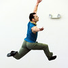 Brandon Freeman leaps in the air while dancing to the music of Queen during rehearsal for Ballet Nouveau Colorado's Rock Ballets at the BNC studio on Thursday.<br /> March 29, 2012 <br /> staff photo/ David R. Jennings