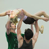 "Sarah Tallman is carried by Corbin Kalinowski, left, and Ben Delony as they perform during the dance  ""An Occasional Dream"" set to the music of David Bowie during rehearsal for Ballet Nouveau Colorado's Rock Ballets at the BNC studio on Thursday.<br /> March 29, 2012 <br /> staff photo/ David R. Jennings"
