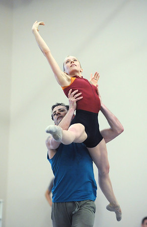 "Brandon Freeman lifts Julie King while dancing to the music of Queen for the dance ""Love of My Life"" during rehearsal for Ballet Nouveau Colorado's Rock Ballets at the BNC studio on Thursday.March 29, 2012 <br /> staff photo/ David R. Jennings"