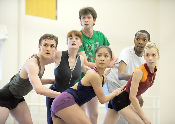 BNC company dancers look in unison while performing to the music of David Bowie during rehearsal for Ballet Nouveau Colorado's Rock Ballets at the BNC studio on Thursday.<br /> March 29, 2012 <br /> staff photo/ David R. Jennings