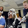 Mountain View Elementary School principal Tracey Amend, right, and assistant principal Shelley Stetler had banana split toppings of xxx put on their heads by xxx and xxx during an assembly at the school on Friday. The principals agreed to the stunt if 100 or more students ran in a fundraising event in October.<br /> <br /> November 30, 2012<br /> staff photo/ David R. Jennings