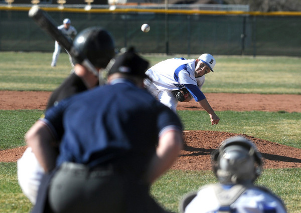 Broomfield's Brandon Bailey throws against Thompson Valley during Thursday's game at Broomfield.<br /> March 22, 2012 <br /> staff photo/ David R. Jennings