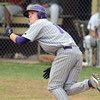 Holy Family's Jay Elliot watches the ball he hit against Faith Christian during Saturday's game at Faith Christian.<br /> <br /> April 14, 2012 <br /> staff photo/ David R. Jennings