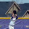 Holy Family's Jay Elliott catches a flyball in center field hit by Jefferson Academy during Saturday's game at Holy Family.<br /> March 24, 2012 <br /> staff photo/ David R. Jennings