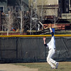 Legacy's Devin Osbment catches a fly ball by Ralston Valley during Friday's game at Legacy.<br /> March 23, 2012 <br /> staff photo/ David R. Jennings