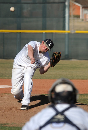 Legacy's pitcher Jacob Long throws against Ralston Valleyduring Friday's game at Legacy.<br /> March 23, 2012 <br /> staff photo/ David R. Jennings