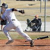 Legacy's Jakob Bublitz runs to first base against Ralston Valley during Friday's game at Legacy.<br /> March 23, 2012 <br /> staff photo/ David R. Jennings
