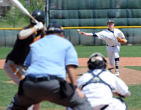 Legacy's Tyler Clapper pitches against Rocky Mountain during Saturday's game at Legacy.<br /> <br /> April 28, 2012 <br /> staff photo/ David R. Jennings