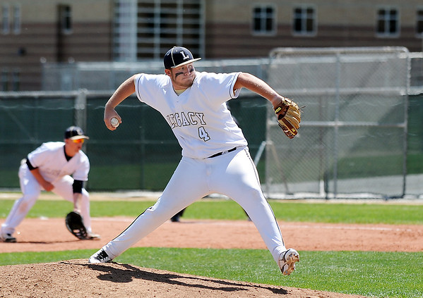 Legacy's Colbey Kozanecki pitches against Rocky Mountain during Saturday's game at Legacy.<br /> <br /> April 28, 2012 <br /> staff photo/ David R. Jennings