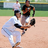 Legacy's Daniel Lee prepares to catch the ball at third base as Rocky Mountain's Nick Komar runs towards Lee during Saturday's game at Legacy.<br /> <br /> April 28, 2012 <br /> staff photo/ David R. Jennings