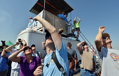 be0830airshow15.JPG Spectators watch the U.S. Air Force F-22 perform during Saturday's Rocky Mountain Airshow 2012 at Rocky Mountain Metropolitan Airport.   August 26, 2012 staff photo/ David R. Jennings