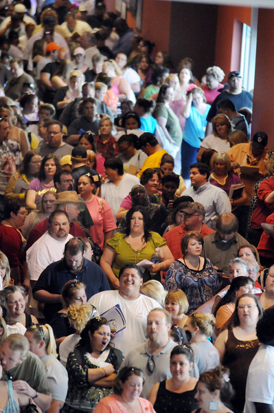 About 550 people showed for NBC's The Biggest Loser 11 casting call at the 1st Bank Center in Broomfield on Saturday.<br /> July 17, 2010<br /> Staff photo/ David R. Jennings
