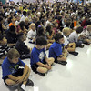 The Birch Elementary School student body  at the Welcome Rally at Birch Elementary School on Friday.<br /> <br /> August 21, 2009<br /> staff photo/David R. Jennings