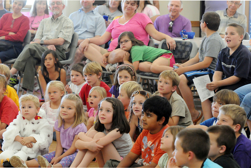 An audience of nearly 200 listened and asked questions during the Birds of Prey Foundation presentation at the Broomfield Community Center on Saturday.<br /> <br /> September 25, 2010<br /> staff photo/David R. Jennings