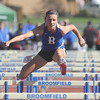 Broomfeild's Katie Croell in the 300m hurdles at the 36th Annual Boulder County Track and Field Championships at Elizabeth Kennedy Stadium in Broomfield on Saturday.<br /> <br /> April 21, 2012 <br /> staff photo/ David R. Jennings