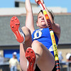 Broomfield's Emma Jacobs in the pole vault at the 36th Annual Boulder County Track and Field Championships at Elizabeth Kennedy Stadium in Broomfield on Saturday.<br /> <br /> April 21, 2012 <br /> staff photo/ David R. Jennings