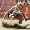 Niwot's Julia Vaiser in the triple jump at the 36th Annual Boulder County Track and Field Championships at Elizabeth Kennedy Stadium in Broomfield on Saturday.<br /> <br /> April 21, 2012 <br /> staff photo/ David R. Jennings