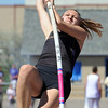 Boulder's Zoe Robb in the pole vault at the 36th Annual Boulder County Track and Field Championships at Elizabeth Kennedy Stadium in Broomfield on Saturday.<br /> <br /> <br /> April 21, 2012 <br /> staff photo/ David R. Jennings