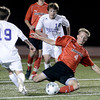 "Fairview High School's Cory Center steals the ball from Joshua Branum during a semi-final game against Boulder High School on Wednesday, Nov. 7, at Legacy Stadium in Aurora. For more photos of the game go to  <a href=""http://www.dailycamera.com"">http://www.dailycamera.com</a><br /> Jeremy Papasso/ Camera"