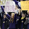 "Boulder High School senior Katie Simpson, at center, cheers for Boulder during a semi-final soccer game against Fairview High School on Wednesday, Nov. 7, at Legacy Stadium in Aurora. For more photos of the game go to  <a href=""http://www.dailycamera.com"">http://www.dailycamera.com</a><br /> Jeremy Papasso/ Camera"