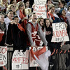 "Fairview High School senior Alex Waters, at center, cheers while waving the school colors during a semi-final soccer game against Fairview High School on Wednesday, Nov. 7, at Legacy Stadium in Aurora. For more photos of the game go to  <a href=""http://www.dailycamera.com"">http://www.dailycamera.com</a><br /> Jeremy Papasso/ Camera"