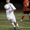 "Boulder High School's Luis Castrulta moves the ball up the field during a semi-final game against Fairview High School on Wednesday, Nov. 7, at Legacy Stadium in Aurora. For more photos of the game go to  <a href=""http://www.dailycamera.com"">http://www.dailycamera.com</a><br /> Jeremy Papasso/ Camera"