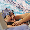 BHFVSWIM<br /> Boulder's Siobhan Hengemuhle won the 100 freestyle during a Boulder High vs. Fairview swim meet on Thursday.<br /> Photo by Marty Caivano/Camera/Jan. 7, 2010