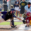 """Nate Marcotte of Boulder is late with the tag on Cole Anderson of the Rocky Mountain Lobos on Saturday.<br /> For  more photos of the game, go to  <a href=""""http://www.dailycamera.com"""">http://www.dailycamera.com</a>.<br /> Cliff Grassmick  / August 4, 2012"""