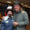 Cowperson Elizabeth Wright and Greg Noonan at Friday's Bowling for Breast Cancer fundraiser at Chipper Lanes in Broomfield.<br /> October 30, 2009<br /> Staff /Dylan Otto Krider