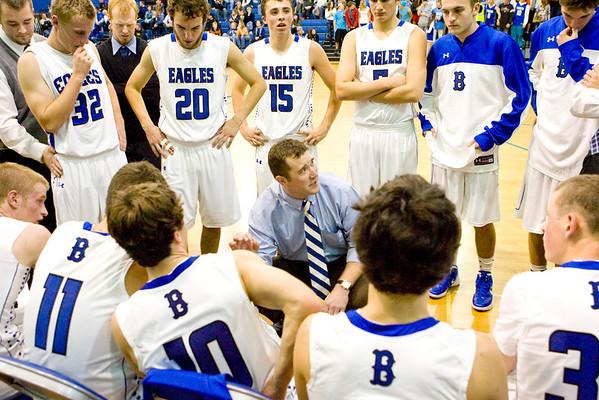 Coach Dunn rallies the troops