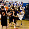 Broomfield's  Evan Kihn goes up for the game tying shot in the final seconds during Friday's game against Lewis Palmer.<br /> <br /> <br /> December 2, 2011<br /> photo by Matt Kelley