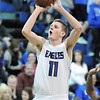 Broomfield's Spenser Reed shoots the ball against Widefield during Friday's state playoff game at Broomfield.<br /> February 24, 2012 <br /> staff photo/ David R. Jennings