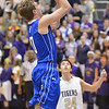 Broomfield's Chad Jukkala shoots the ball against Holy Family during Friday's cross town rivalry game at Holy Family.<br /> December 21, 2012<br /> staff photo/ David R. Jennings