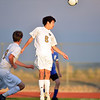 Holy Family's Eddy Park does a header against Peak to Peak during Thursday's game at Mike G. Gabriel Stadium<br /> September 27, 2012<br /> staff photo/ David R. Jennings