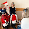 Joey Heath, 5, left, and his sister Krissy, 7, visit with Santa as their mother Peggy watches at the 10th annual Broomfield Lions Club Breakfast with Santa at the Broomfield Community Center on Saturday.<br /> December 5, 2009<br /> Staff photo/David R. Jennings